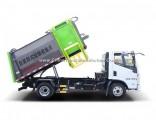8 Ton 4X2 Yuejin 7cbm Hanging Barrel Garbage Collection Truck