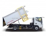 4X2 7cbm 8ton Hanging Barrel Type Garbage Refuse Truck