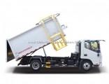 4X2 7cbm 8ton Hanging Barrel Type Garbage Refuse Truck