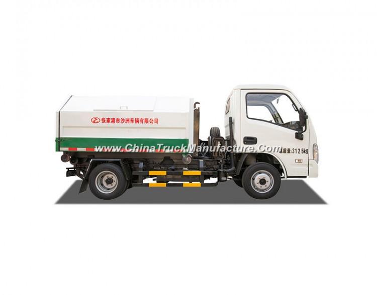 112 HP 1.5 Ton 5 Cbm Detachable Waste Garbage Truck