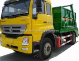 Sinotruk HOWO 4X2 Right Hand Drive 10cbm Refuse Container Swing Arm Garbage Truck