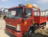 Good Quality HOWO Light 2tons 3tons Small Truck Crane with Basket