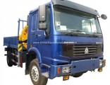 HOWO 266HP 4X4 Right Hand Drive 5 Ton Crane Truck Mounted