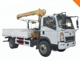 HOWO Light Right Hand Drive 4X2 Dump Truck with Crane
