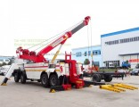 Sinotruk HOWO 8X4 Heavy Duty 60-100t Tow Truck Under Lift Boom 360 Degree Rotation Wrecker Towing Tr