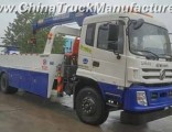 Dongfeng 6X4 Tow Lifting Capacity 20tons Wrecker Truck with 8tons Crane