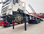 China Brand HOWO 8X4 Flat Bed Cart with Front Legs Lifting