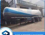3 Axles 58.5 Cbm LPG Gas Transport Semi Trailer