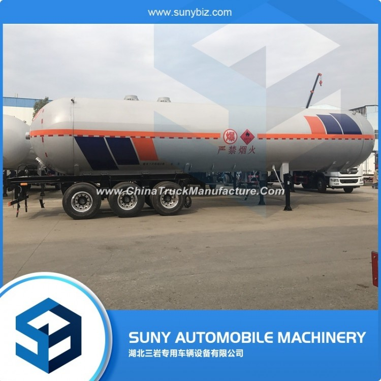 Cheap 20tons LPG Semi Trailers Gas Tank Transport Trailer for Sale