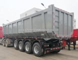 Factory Price 50cbm 4 Axles Rear Hydraulic Lift Dump Trailer