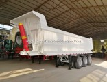 50tons U Shape Heavy Duty Tipping Truck Semi Trailer for Stone Transport