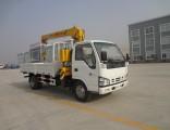 Isuzu 4X2 120HP Cargo Truck Mounted 3.2 Tons Straight Crane
