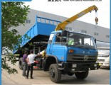 Dongfeng 4X4 All-Wheel Drive 8 Ton Dump Truck with 4 Ton Crane for Sale