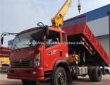 Sinotruck Cdw 6 Wheels 2 Ton Dump Truck with 3.2 Ton Crane for Sale