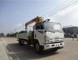 2019 New Isuzu 4X2 3.2 Tons Truck Crane 008615586887678
