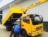 DFAC 4X2 Small Dump Truck with 3.2 Ton Crane for Sale