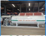 10tons LPG Skid Tank Mounted Filling Station 20cbm with Double Nozzle Dispenser