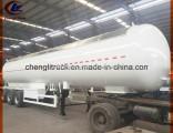 56000L LPG Gas Trailer 25tons LPG Tank Trailer for Tanzania