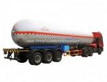 49.6m3 LPG Road Tanker 50000liters LPG Trailer