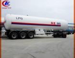 56000L LPG Transport Trailer 25tons LPG Tank Trailer for Nigeria