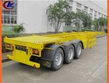 Heavy Duty 3-Axle Skeletal Container Truck Trailer