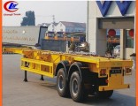20feet Container Carrier Trailer in 2 Axles Skeletal Semi-Trailer