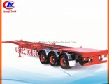 40ft 3 Axle Skeletal Container Semi Trailer