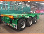 Heavy Duty 3 Axle 50ton Low Bed Flat Semi Trailer