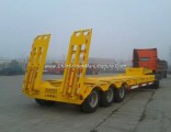 3 Axle 40ton Heavy Flatbed Container Loader Truck Trailer