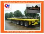 Adr 3 Axle 40feet Container Flatbed Semi-Trailer Flatbed Trailer 40feet Flat Top Trailer Flat Deck