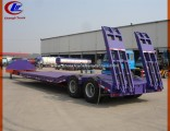 Low Bed Semi-Trailer for 40ton Machinery Lowboy Trailer