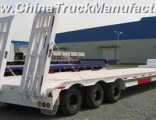 Heavy Duty 2-Axle Lowbed Semi Trailer with Mechanical Ramps
