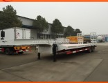 2 Axles Low Flatbed Semi Trailer for Sale