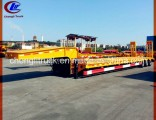 Heavy Duty 60ton Gooseneck Lowbed Semi Trailer with Mechanical Ramps