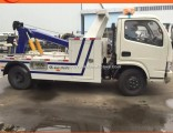 Flatbed Raod Wrecker Truck with Crane Tow Crane