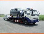 6 Wheels 120HP Platform Tow Truck for Road Recovery