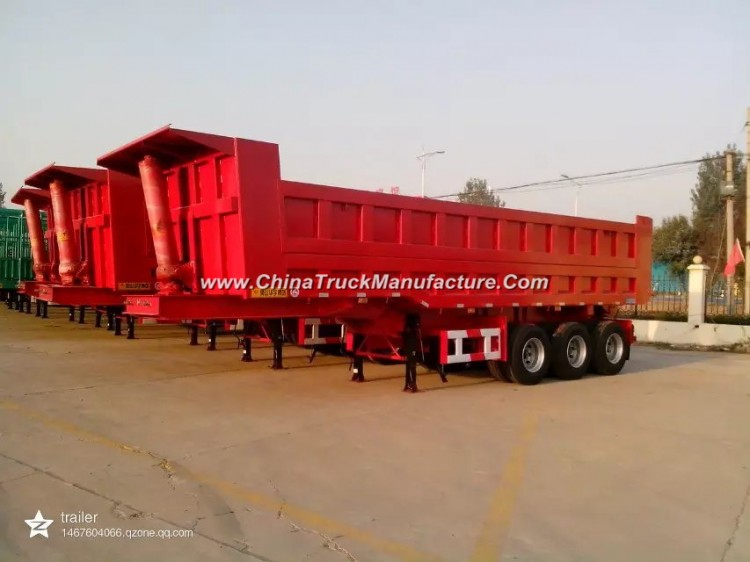 Heavy Duty 3-Axle 25cbm Dump Trailer End Tipper Semi Trailer