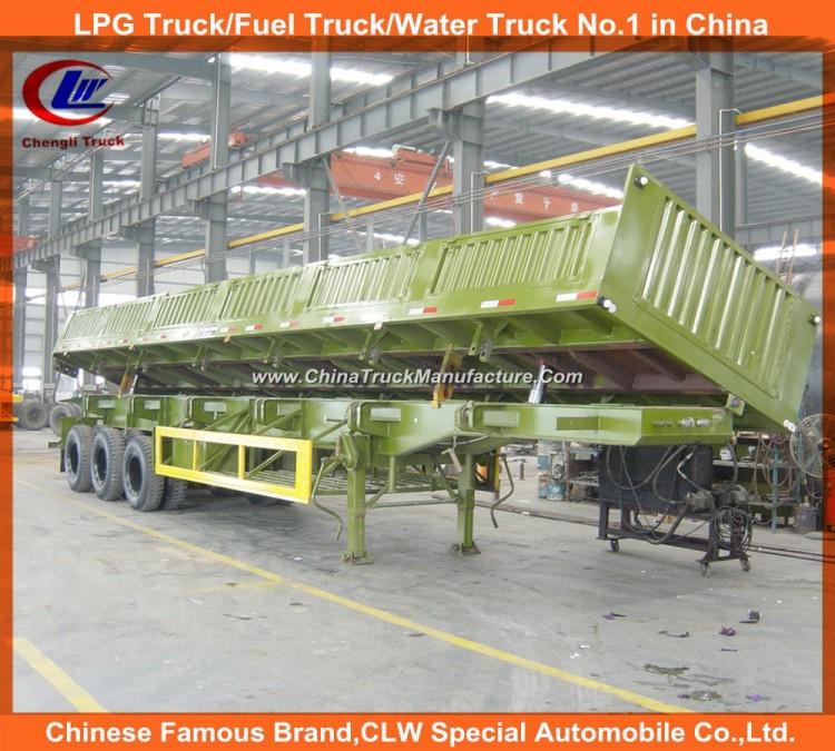 Heavy Duty 3 Axle 40ton Mineral Side Tipper Semi Trailer