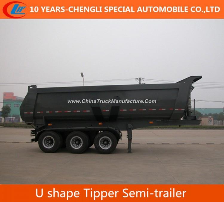 25cbm 3 Axle U Shape Tipper Semi Trailer