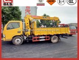 Dongfeng 8 10 12 Ton Truck Mounted Mobile Telescopic Boom Crane Truck with Folding Straight Knuckle