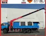 Dongfeng 6X4 10tons Flatbed Mounted with Hoist Mounted Hydraulic Pickup Crane Truck