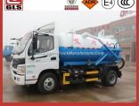 Collection Waste Foton 4X2 5/6/8cbm Sewage Vacuum Suction Truck