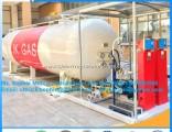 20t LPG Tank LPG Skid LPG Gas Filling Station 40m3 LPG Gas Filling Plant LPG Skid Station Mobile Ski