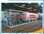 Factory Cheap Price 100gallons LPG Auto Skid Gas Stations Mobile Filling LPG Tank Station for Nigeri