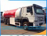 HOWO 10mt 6X4 24.8cbm Gas Distribution Truck LPG Bulk Tanker Truck Gas Tanker Truck LPG Bobtail Truc