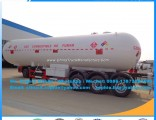ISO Propane 58.5cbm 3 Axle Propylene LPG Gas Tank Semi Trailer Propane Transport Trailers Cooking Ga