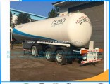China Hotsales 3axles 56m3 Q370 24mt Bulk LPG Trailer Gas Distribution Trailer 24mt LPG Semitrailer