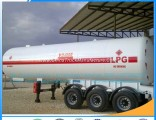25mt LPG Cooking Gas Transport Tank Truck Trailer for Sale