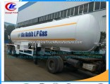 2axles LPG Gas Pipe Trailers LPG Gas Transport Tankers LPG Trailer LPG Tank Truck Trailer High Press