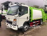 HOWO 3ton Small Capacity of Compactor Compression Garbage Truck Hydraulic Garbage Compactor